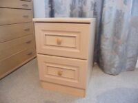 Two drawer chest (beech)
