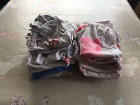 Girls T shirts x 10 (3-4 years)