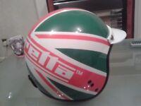 Lambretta Vintage open faced Retro style Leather helmet size XL 61