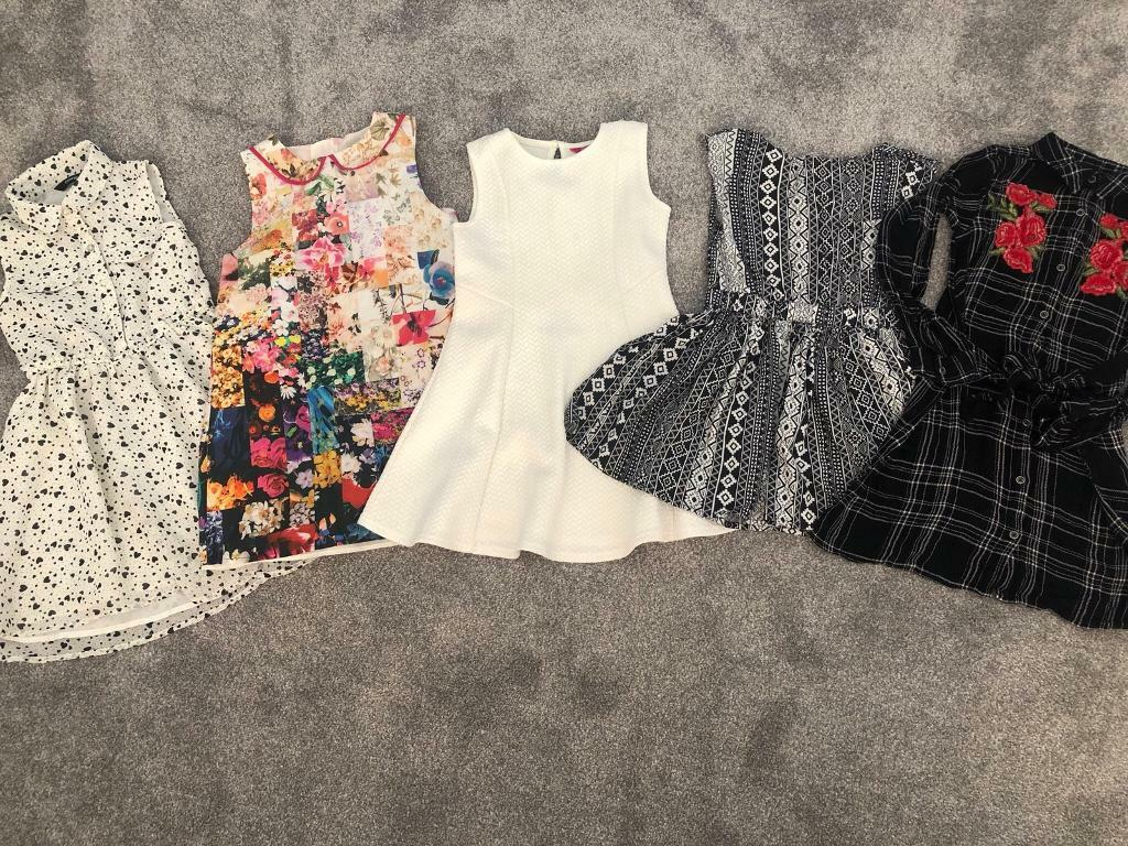 5340e6db7b26 Little girls dress dresses bundle age 7 years summer party floral