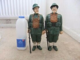 A collection of Laurel and Hardy Statues