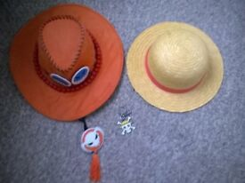 Anime One Piece hats and keyring