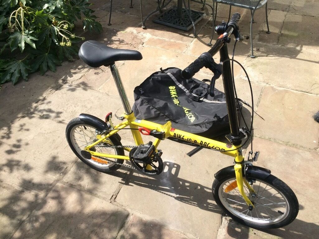 Bike in a bagfold up, folding bicycle bike, VGCin Mossley, ManchesterGumtree - Bike in a bag. fold up bike. Little used, and has been stored inside. Easy to fold up in under a minute. Instructions included. Perfect to keep in your car boot, or caravan