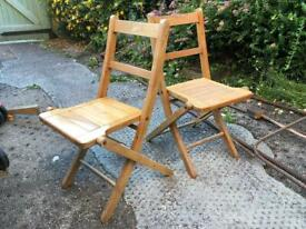 2 Matching Children's Class room folding chairs