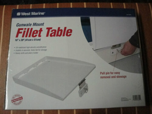 """Fillet Table / Bait Prep Filet Station Boat Gunwale Mount 16"""" x 20"""" West Marine"""
