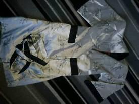 Silk dressing gown, reversible medium