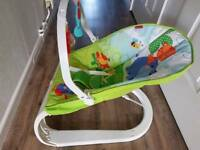 Fisher price rainforest friend's comfort curve bouncer in immaculate condition