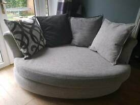 DFS Spotlight Snuggle Sofa VGC + 4 Cushions. 3 years old. RRP £699