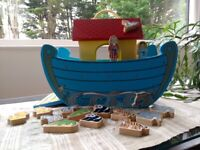 Wooden Noah's Ark - shape sorting toy