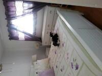 bedroom set and mattress