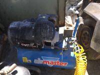 Air master tiger 16/510 turbo air compressor including 24litre extra air tank and 20m of air hose.