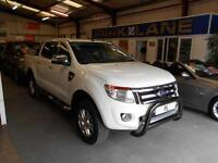 Ford Ranger Pick Up Double Cab Limited 2.2 TDCi 150 4WD + VAT (frozen white) 2015