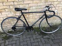 Black racing road bike sasa