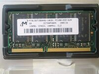 Laptop memory PC100 CL2 128MB x 4