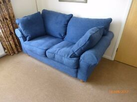 Blue 2 seater 'Davina' sofa by Collins & Hayes