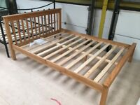 Pine double bed frame double bed