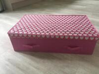 Kids under bed storage box (pink)