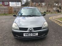 2003 Renault Clio 1.2 16v Expression 3dr Manual @07445775115