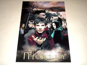 MERLIN CAST X4 PP SIGNED 12