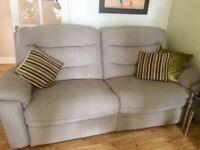 Reclining 4 seater sofa & chair