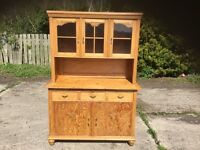 ANTIQUE PINE KITCHEN DRESSER/CUPBOARD
