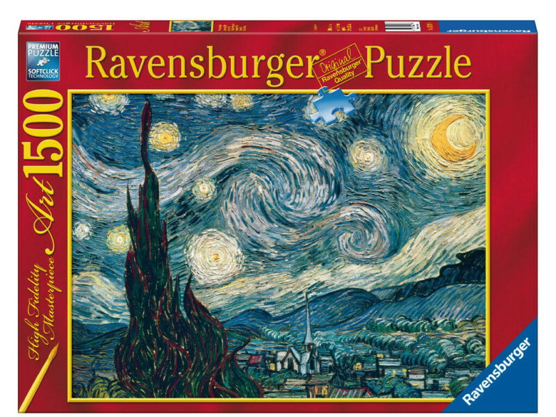 Ravensburger Jigsaw Puzzle 1500pc - Van Gogh: Starry Night - 16207-9 Authentic N