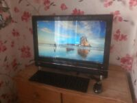 """for sale 23"""";; lcd widescreen full touch screen i3 /500 gb hard drive /4gb ram £80"""