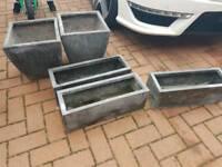 Garden plant pots/tubs