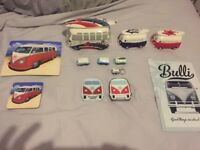 Vw van ornaments metal picture playing cards placemats money boxes etc