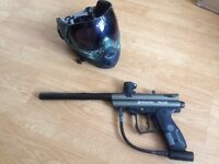 Paintball marker and mask