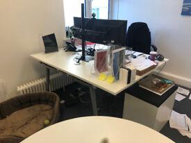 Compact desk bureau ikea ps white birch veneer in chelsea