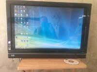 """HP All in one touch smart 25"""" tv computer"""