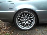 BMW ALLOYS M SPORT. 235/45/19 (RIMS TYRES WHEELS ) £350 ONO