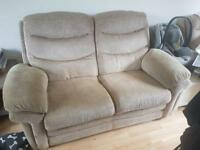 Sofa And 2 Electric Reclining Arm Chairs in good condition