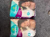 Brand new unopened pampers nappies