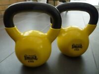 Two Lonsdale of London 6KG Dumbells - Yellow with Black handles - VGC