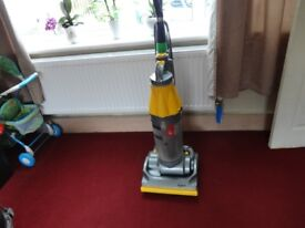 yellow and silver dyson dc 07 model working order