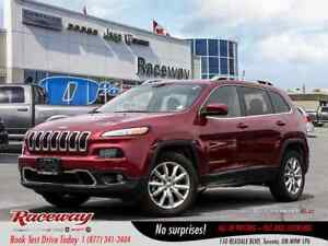 2016 Jeep Cherokee Limited - Nav, Vented & Htd Seats, Back Up Ca