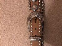 Women's Italian designer manni belt