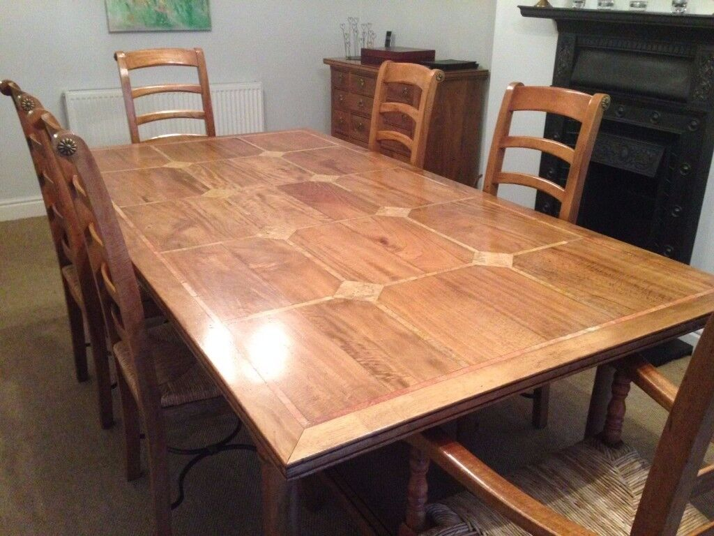 Barker And Stonehouse Flagstone Dining Table And 6 Chairs