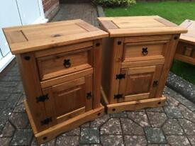 Solid pine Bedside Chests