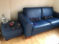 Sofa Bed with foot stool (hardly used - very good condition)