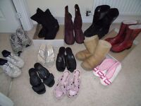JOBLOT LADIES WINTER BOOTS, TRAINERS, SANDALS..NEW & USED