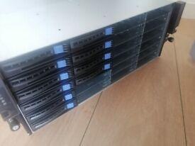 Server Chassis 4U Super micro X9SRH-7TF +SAS9201- 16i Xeon E5 V2 SAN NAS Freenas Storage
