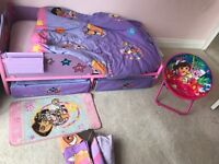 Dora the Explorer Toddler bed set