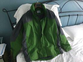 Men's waterproof sports jacket green XL NEW