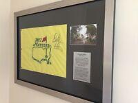 Signed bubba Watson masters flag