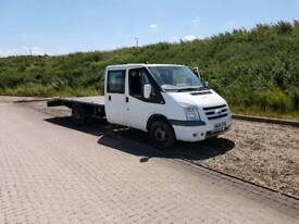 Ford transit crew cab recovery truck, car transporter
