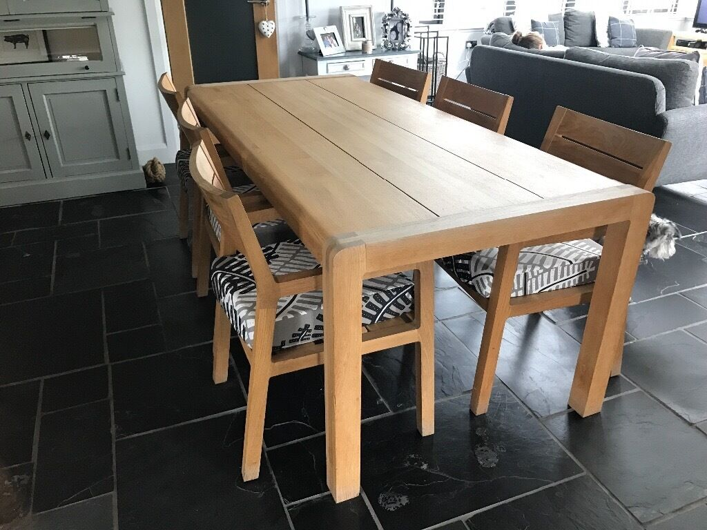 Habitat radius dining table and 6 chairs in dunblane stirling habitat radius dining table and 6 chairs geotapseo Gallery