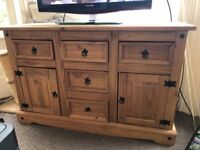 Set of 4, strong, good quality wood furniture.